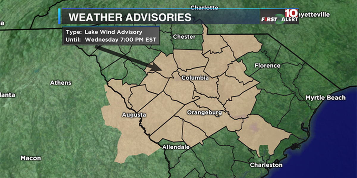 FIRST ALERT: Lake wind advisory in effect for Wednesday