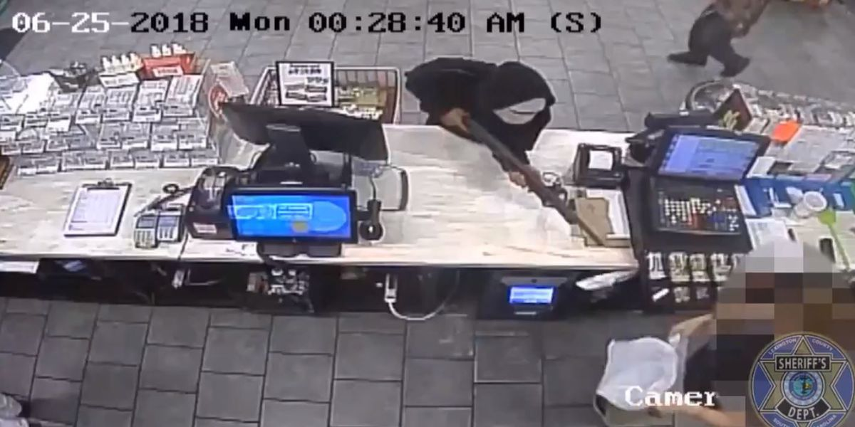 Three men storm Pelion convenience store with a shotgun, steal money
