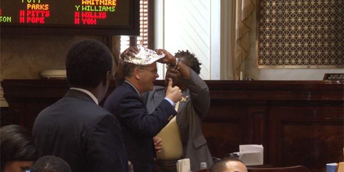 Tin foil hats show up in State House during debate on Sharia Law