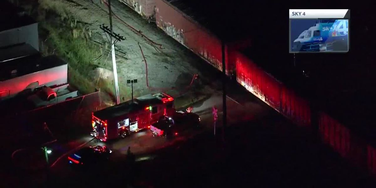 Train crashes into tractor-trailer in Greenville County, officials say