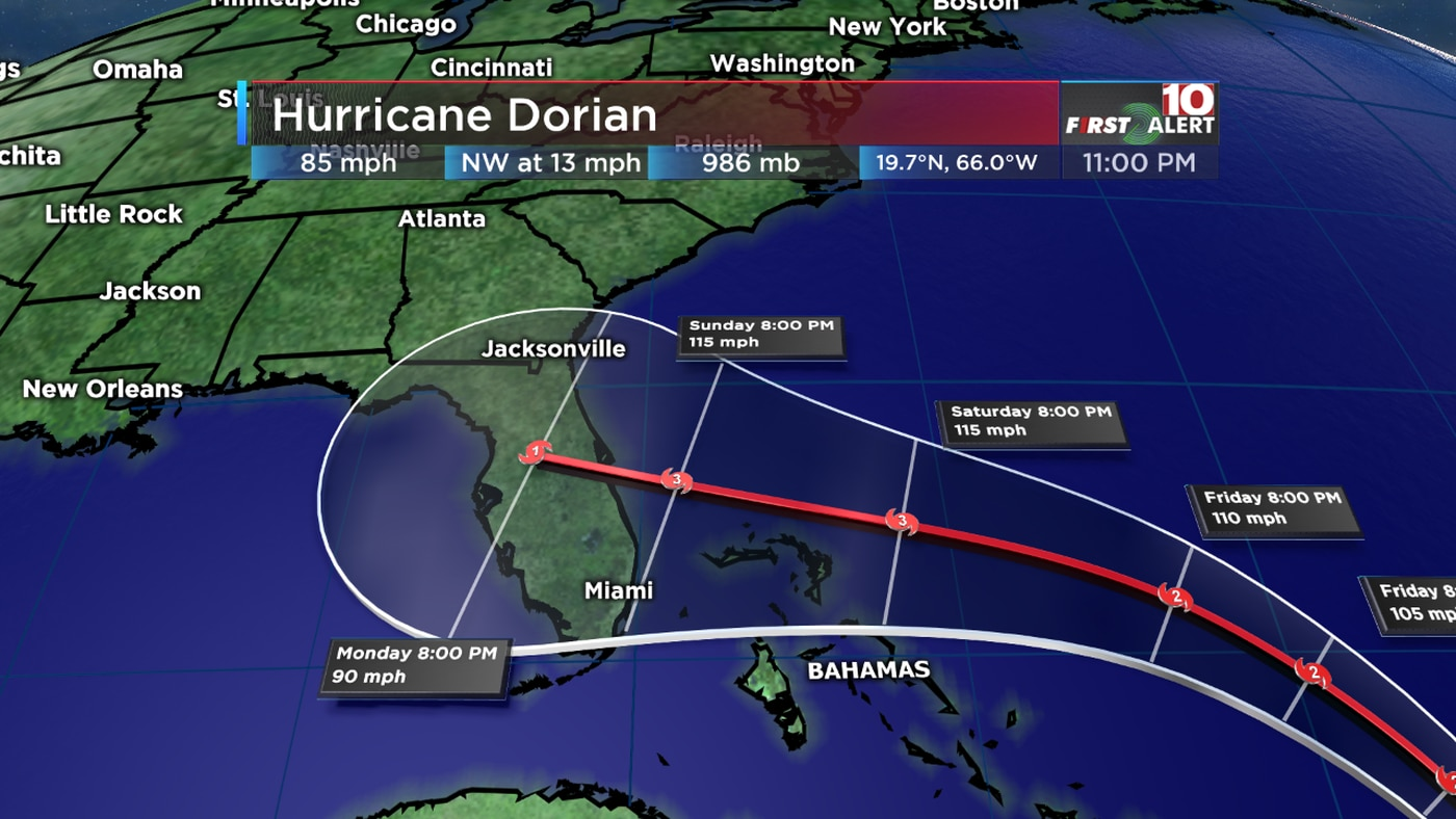 Hurricane Dorian: Storm strengthens, will likely impact the