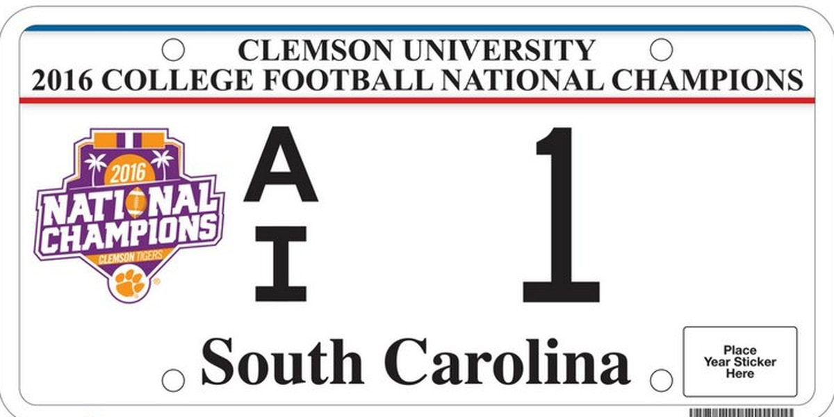 Clemson National Championship license plate now available