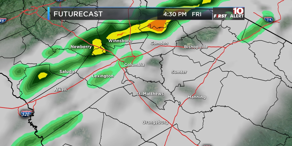 FIRST ALERT: Friday is an Alert Day for scattered showers and possible thunderstorms