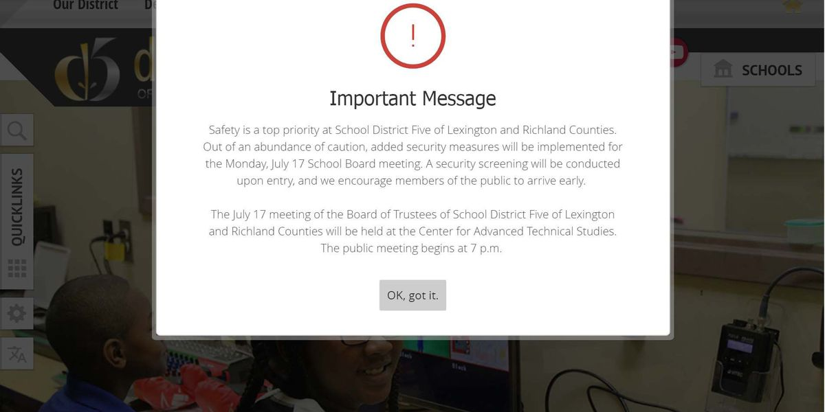 Lexington-Richland 5 adds security for school board meeting after member, staff get threats