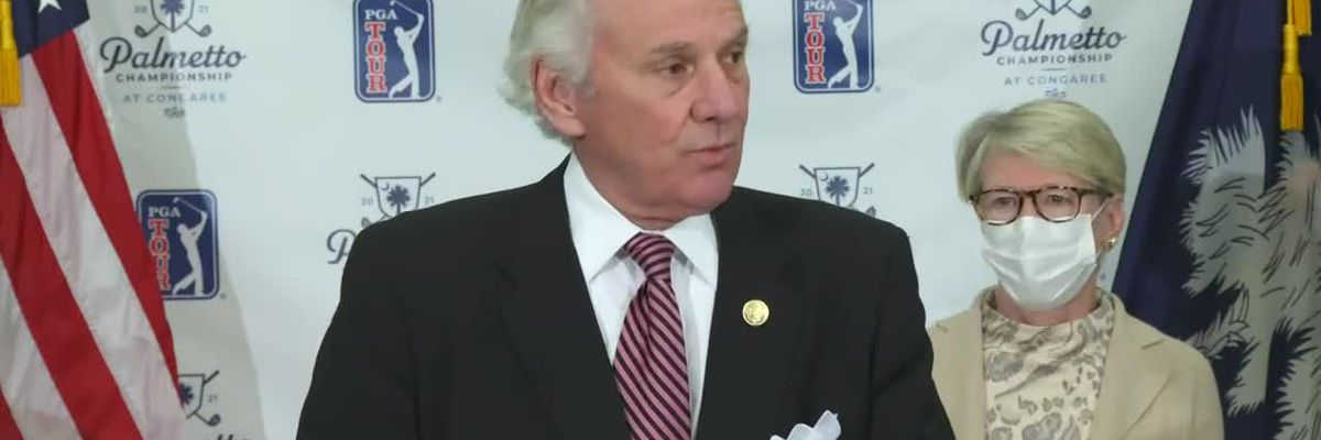 RAW VIDEO: McMaster announces 3rd 2021 PGA Tour event coming for SC