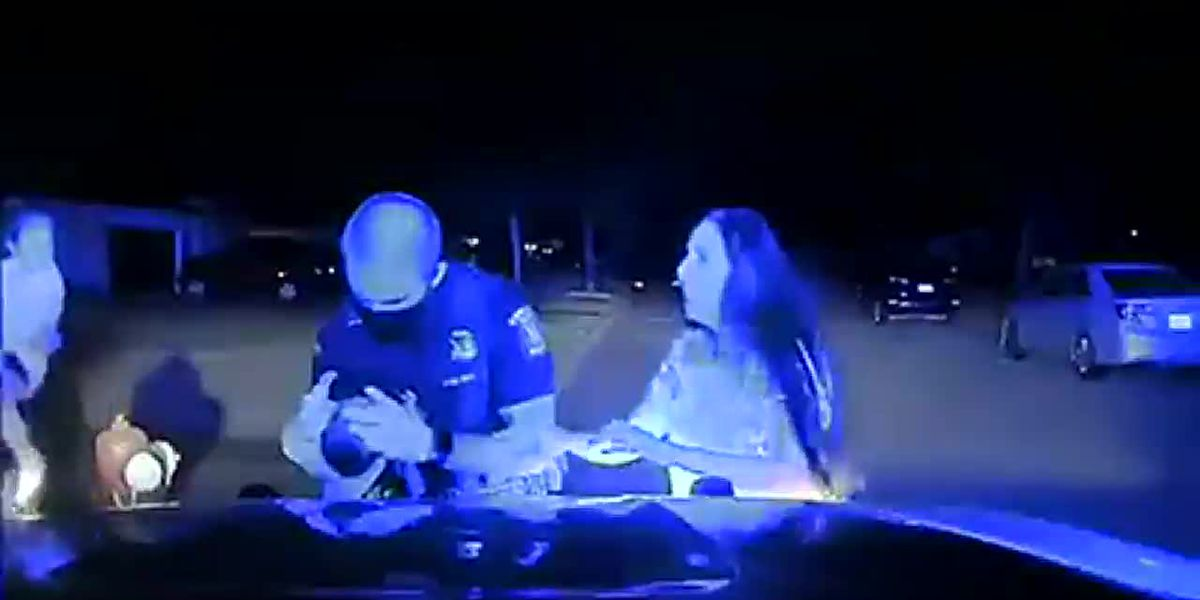 Caught on camera: Officer saves choking baby in Mich.