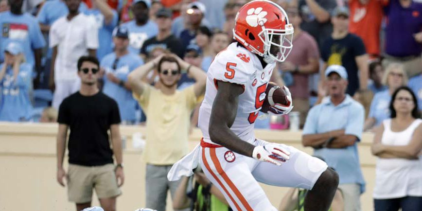 Clemson's Higgins named ACC Receiver of the Week
