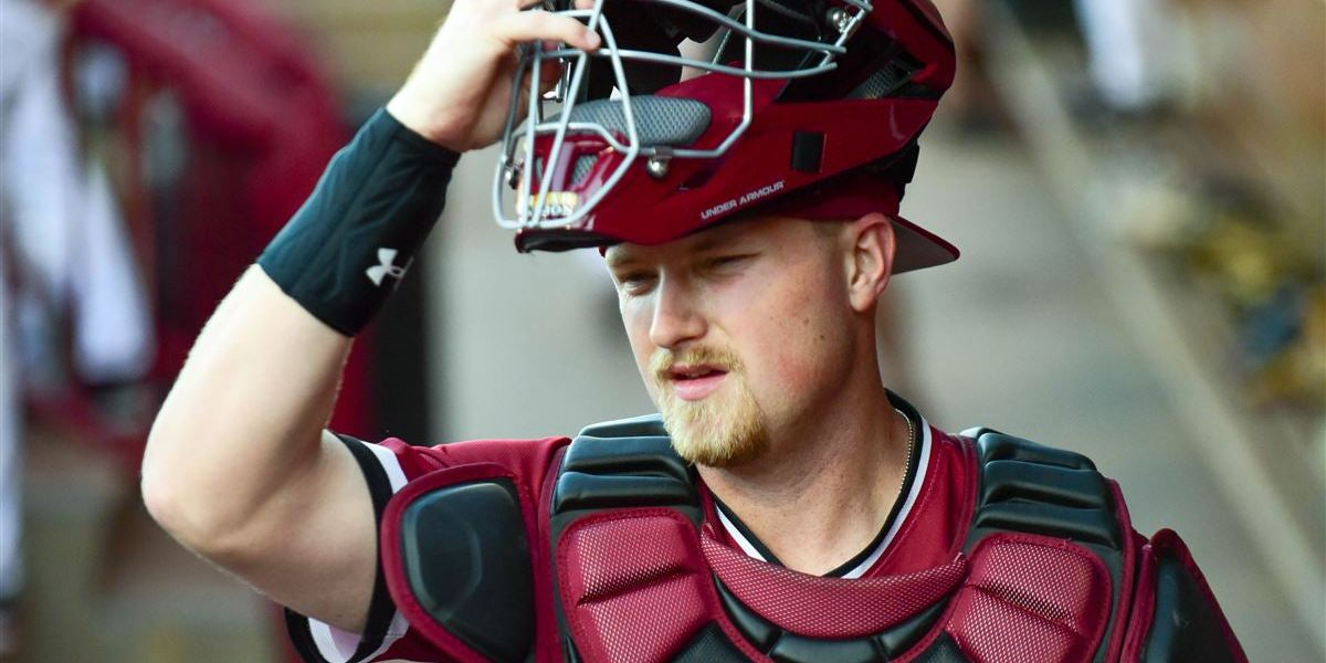 Gamecocks catcher Beaver honors best friend by wearing his number