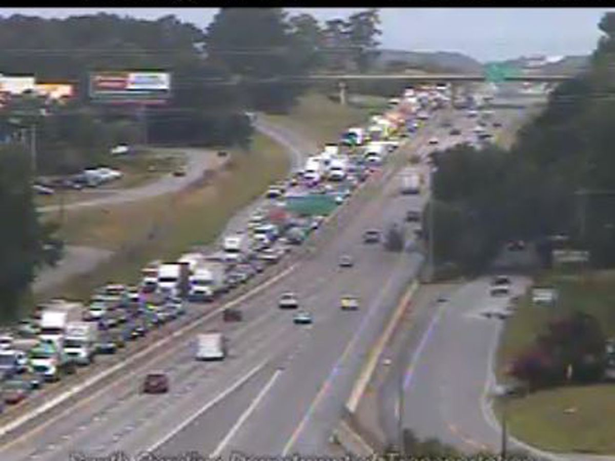 Two right lanes closed on I-26 E near Saint Andrews exit