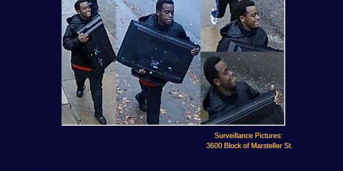 CPD: 4 burglarly suspects caught on camera stealing flat screens TVs, other items