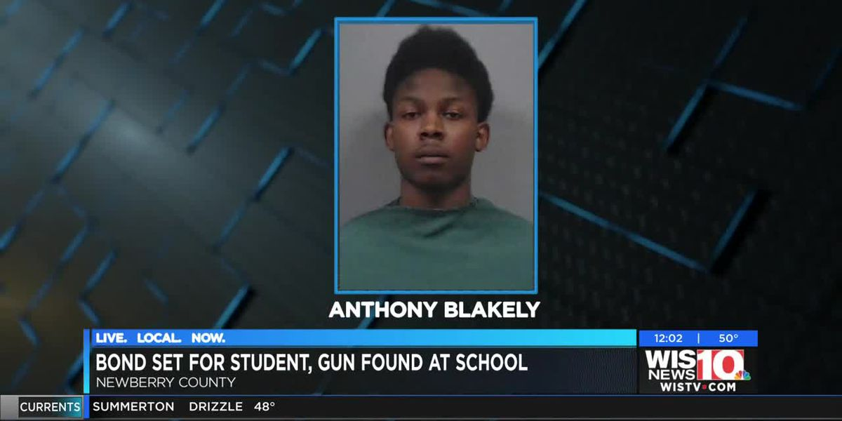 Newberry High student with gun in classroom gets bond, remains in jail
