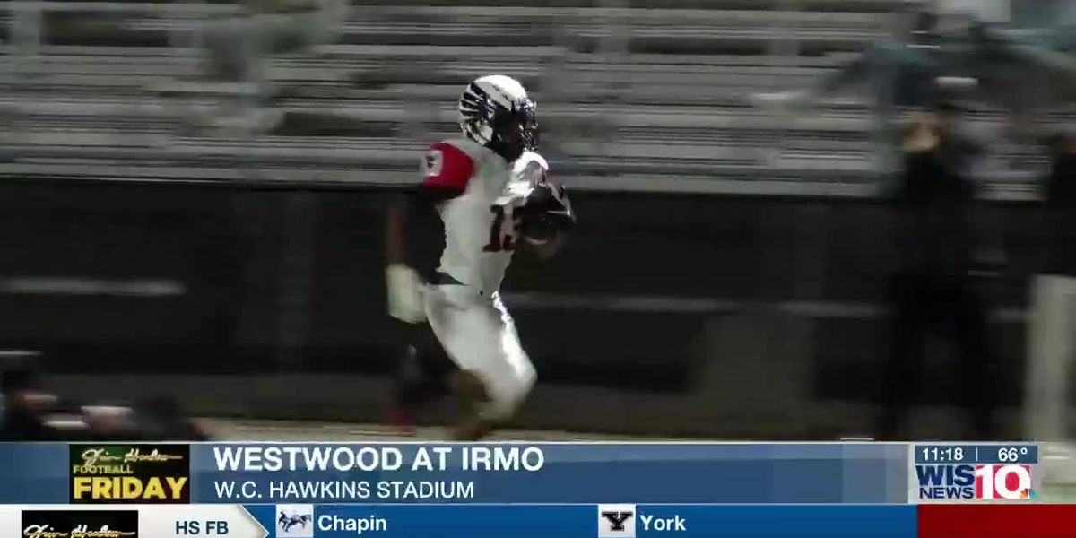 PLAY 1: Westwood's Nick Gillam scores on the hook and ladder
