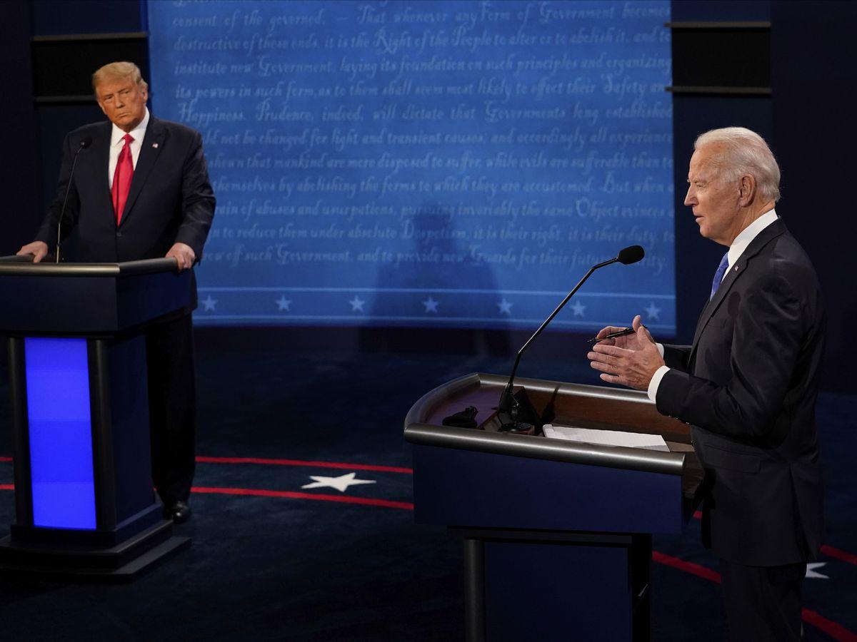 AP FACT CHECK: Falsehoods and fumbles in Trump-Biden debate