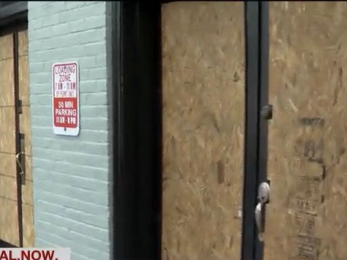 Some shops in the Vista still boarded up after weekend protests while others open