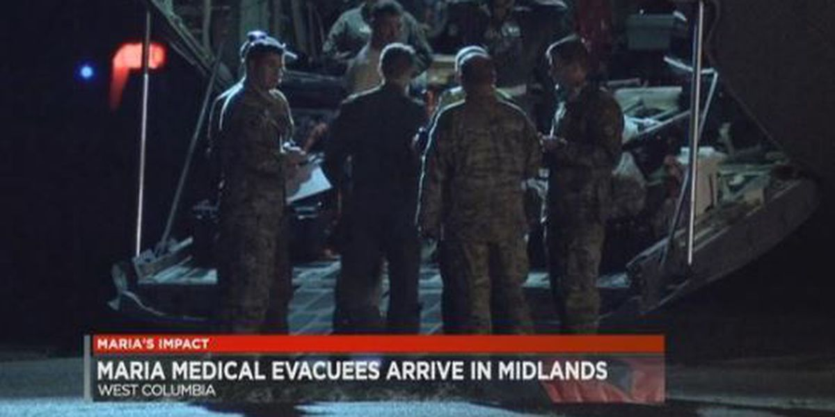 More medical evacuees arrive in SC from hurricane-torn Caribbean