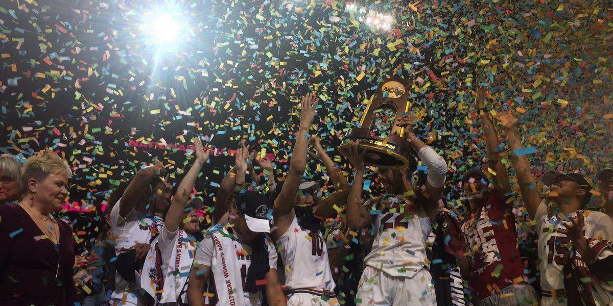 HISTORY! South Carolina wins NCAA championship