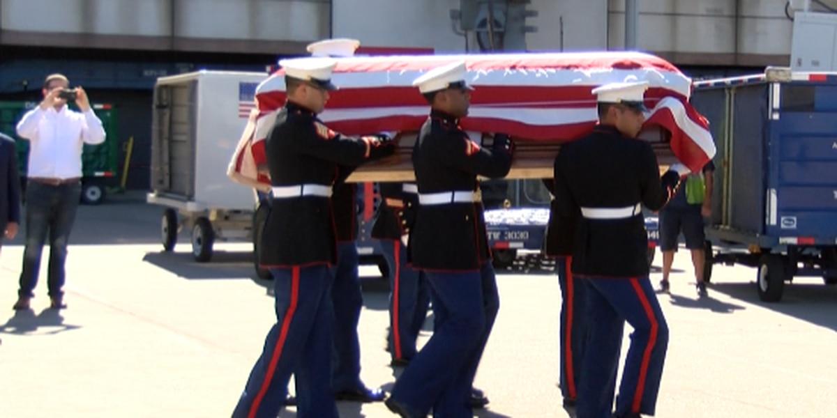 Remains of World War II hero return home to NC 76 years later