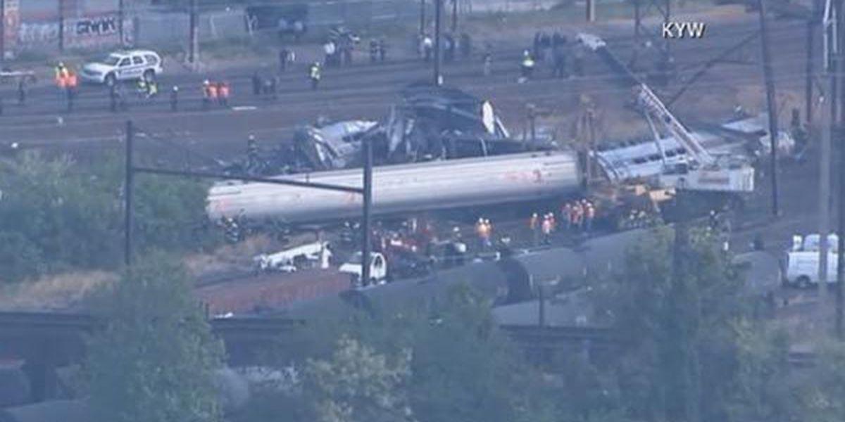 WATCH LIVE: Aerial shots of the Amtrak train crash in Philadelphia