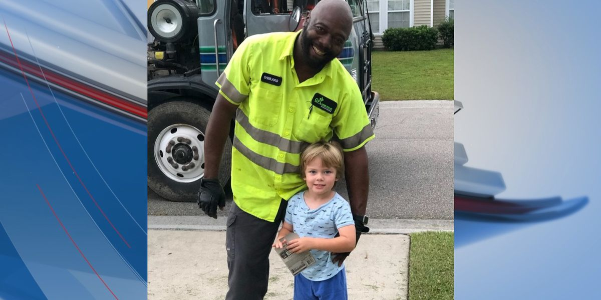 'It was a priceless moment': Carolina Forest boy receives token of friendship from his favorite garbage truck driver