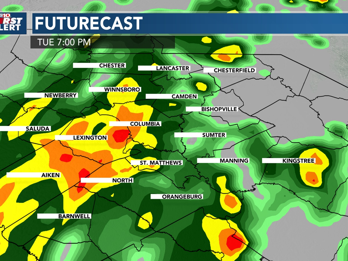 FIRST ALERT - Tuesday is an Alert Day for Strong Showers and Storms