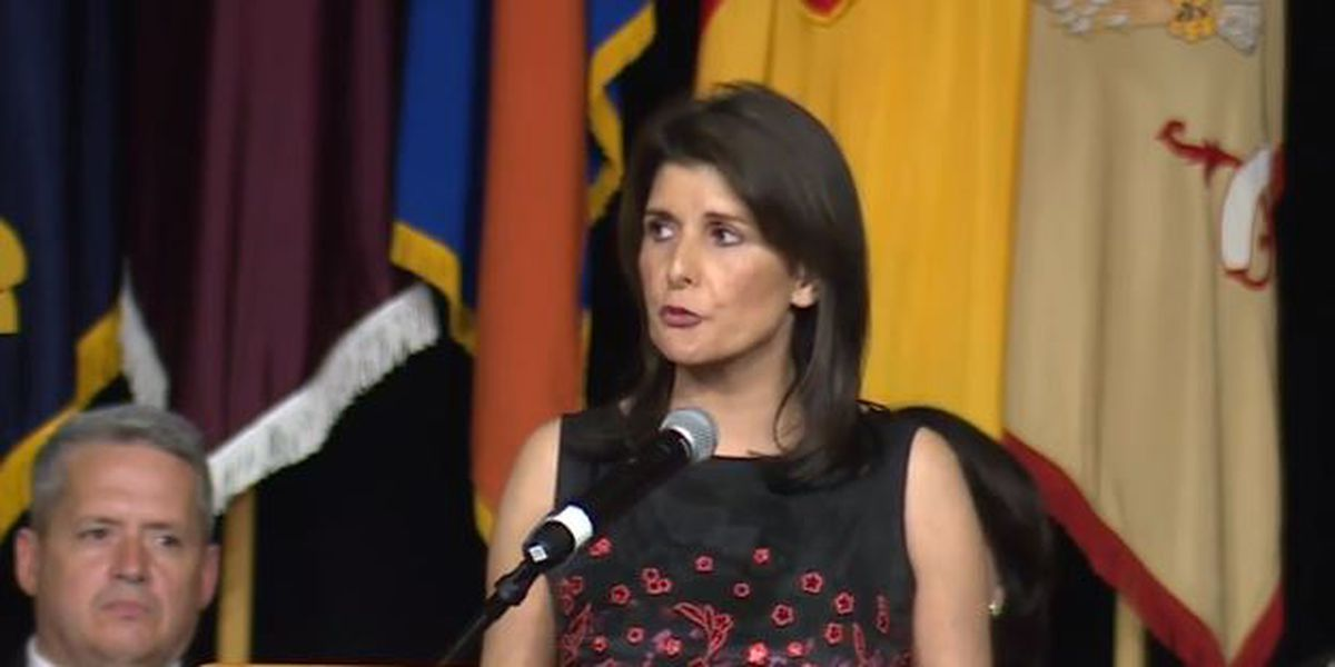 Former UN Ambassador Nikki Haley returns to Carolinas to honor National Guard