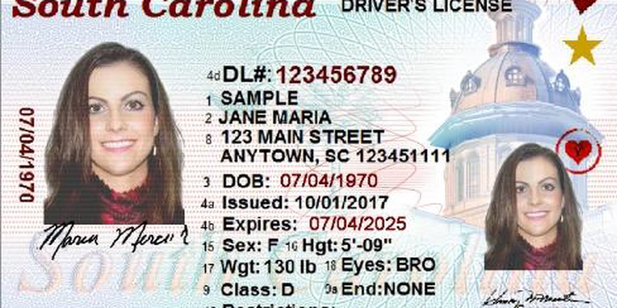New SC licenses and ID cards now available