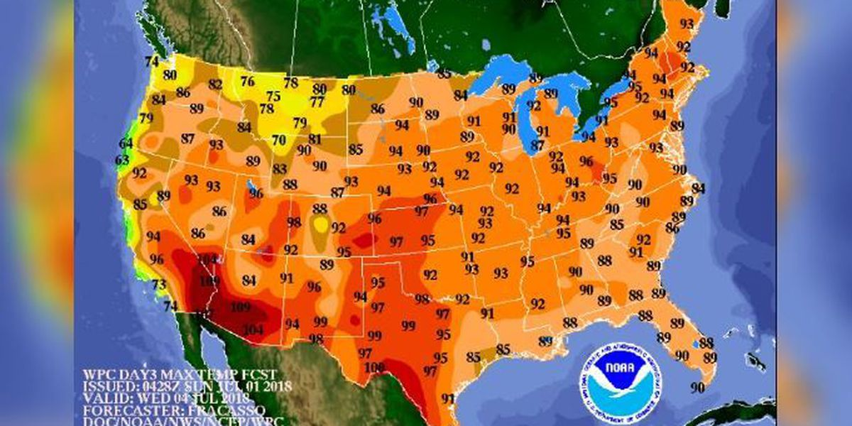 Heat Dome Brings Dangerously High Temps Humidity To Most Of Us - Us-humidity-map