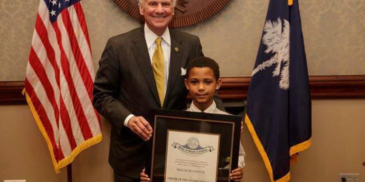 9-year-old hero receives highest civilian award from Governor Henry McMaster