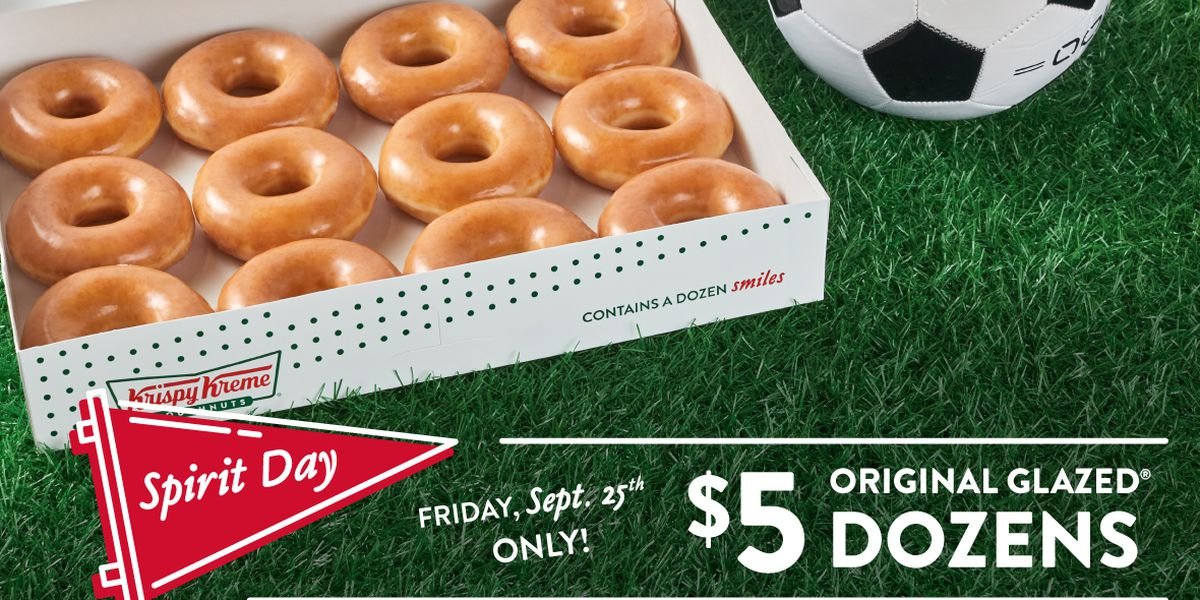 Krispy Kreme celebrates Sports Spirit Day with $5 doughnut deal