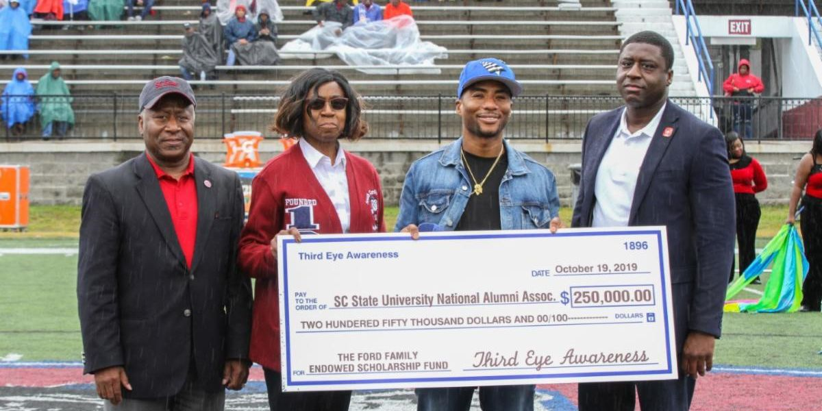Media personality, SC native Charlamagne Tha God presents SC State with $250,000 in scholarships