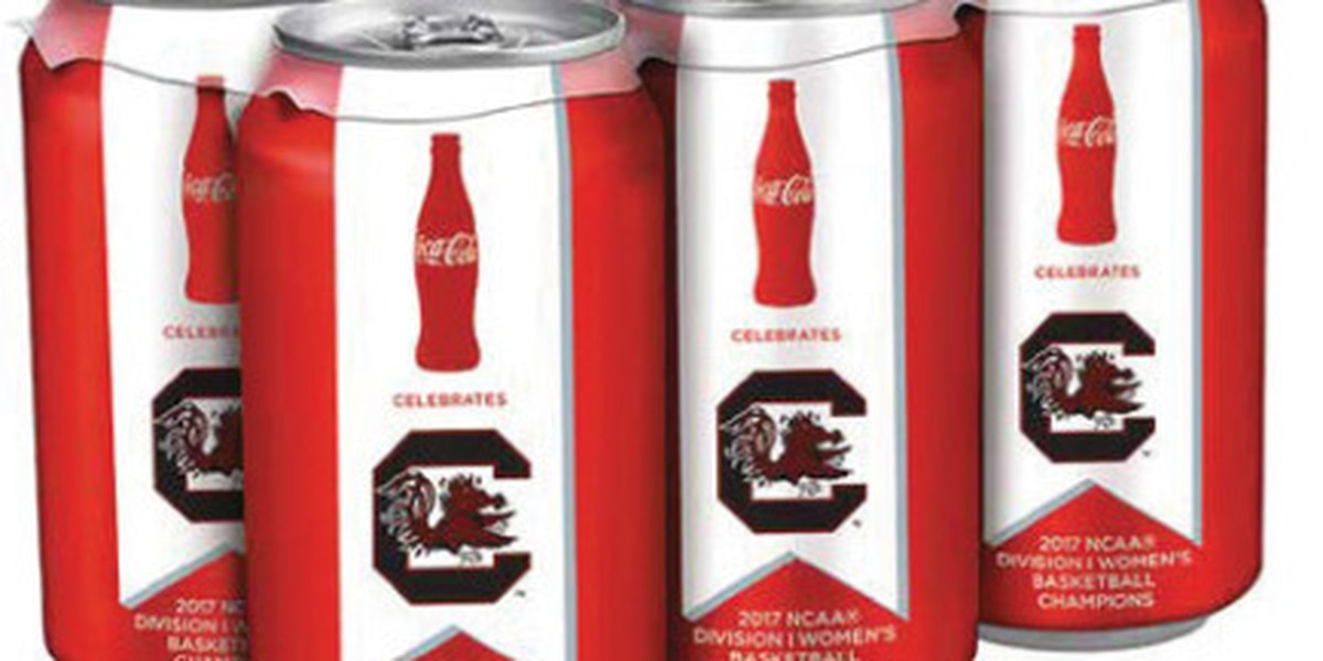 Gamecocks honored with commemorative Coca-Cola can celebrating championship