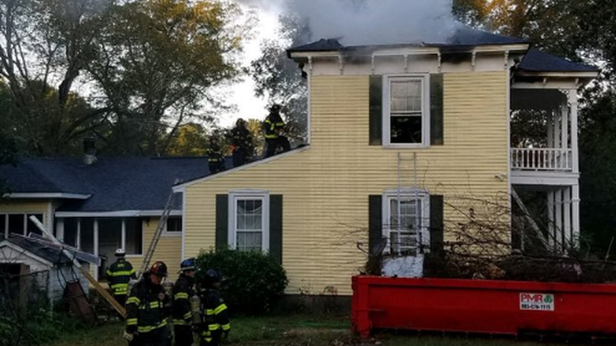Part of Broad River Rd. closed as crews respond to house fire