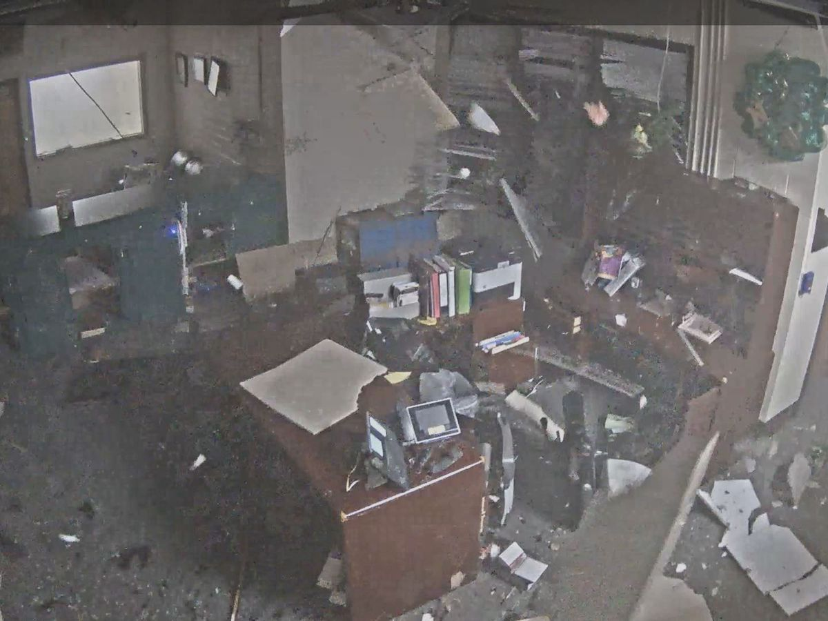 Surveillance video captures moment EF-2 tornado rips through S.C. high school
