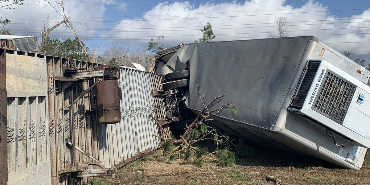 PHOTOS: Deadly tornado leaves path of destruction in Brunswick County
