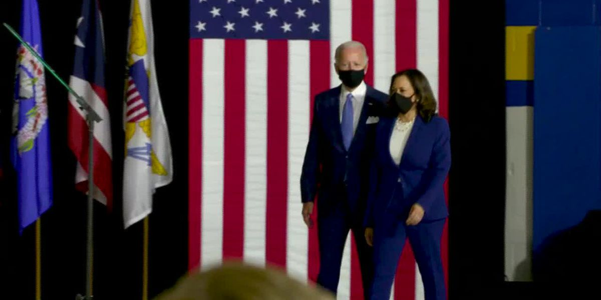 Biden, Harris make united pitch in first appearance