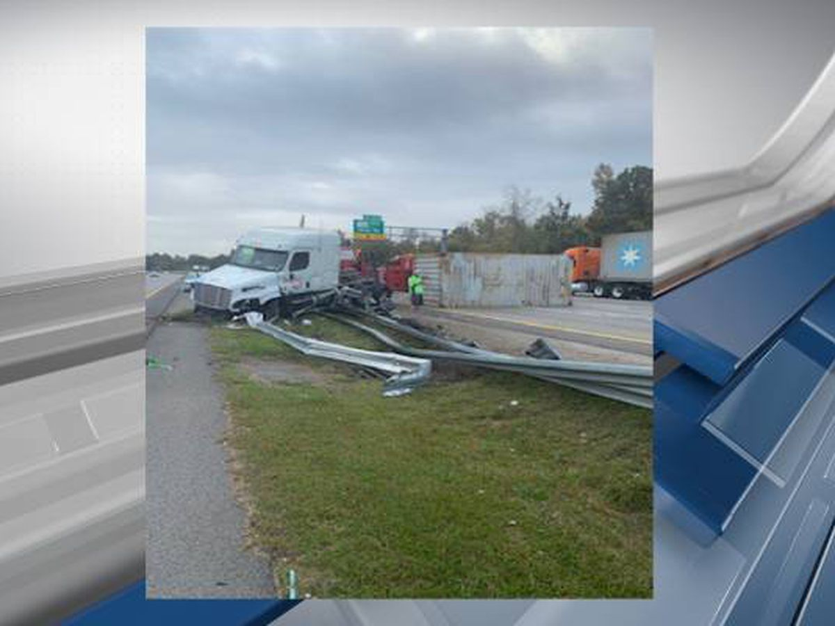 Overturned tractor trailer causing delays on I-77 N near Shop Road exit
