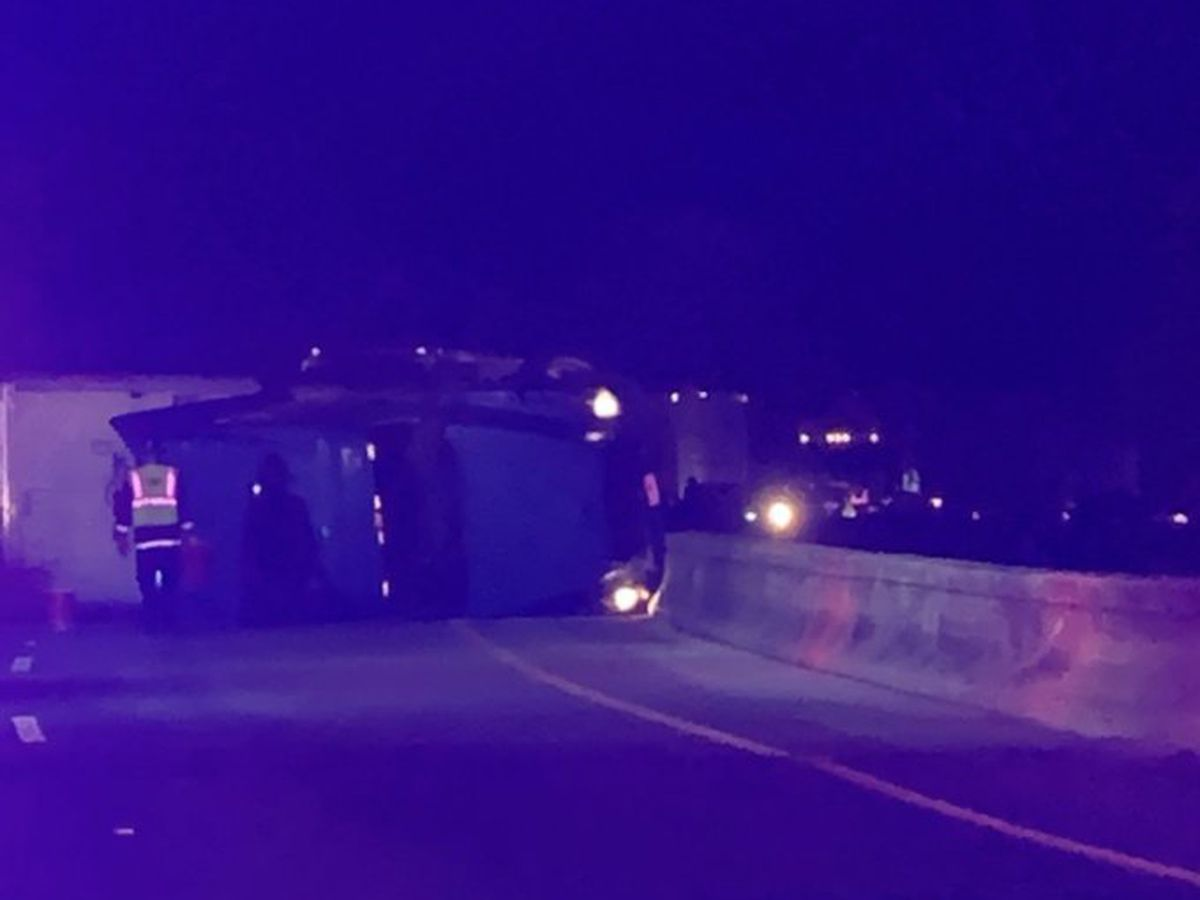 I-26 West reopens following early morning crash involving overturned semi