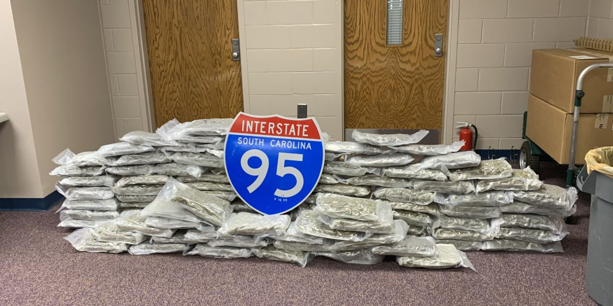 114 pounds of marijuana seized from bus after traffic stop in Florence County