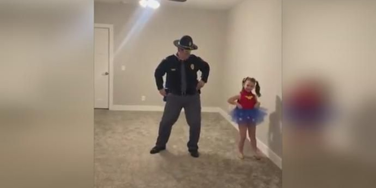 Nebraska State Trooper dances with daughter after COVID-19 cancels competition