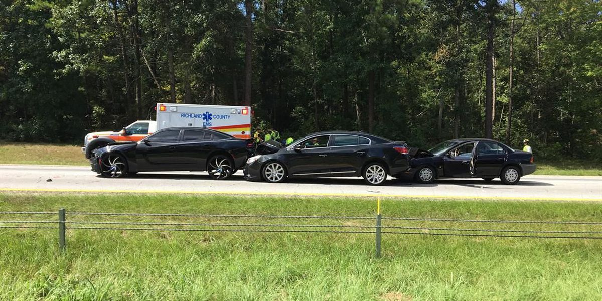 FIRST ALERT TRAFFIC: Lanes on I-26 eastbound near Peak exit cleared following 3-car collision