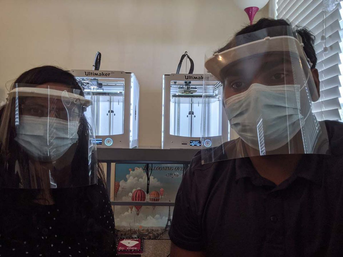 UofSC engineers use 3D printers to create face shields for colleagues at MUSC