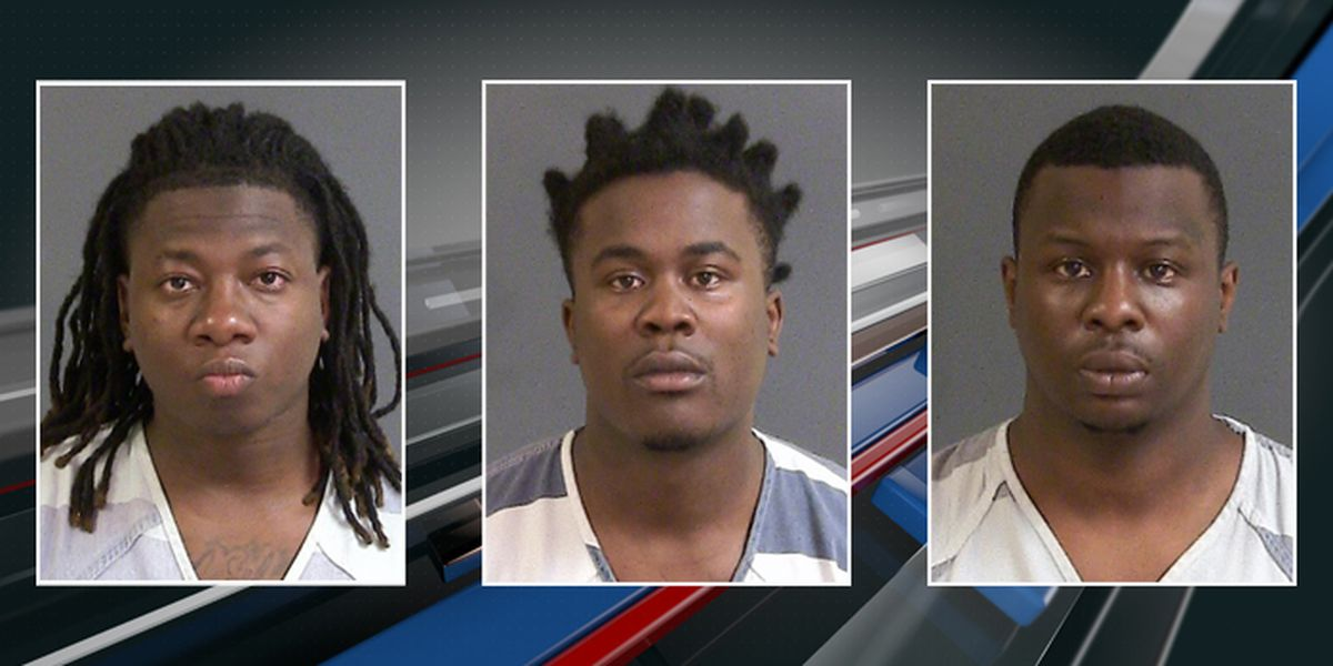 Three men charged in shooting that injured 8-year-old girl in N. Charleston