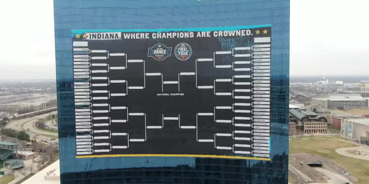 Massive March Madness sign ready for tournament