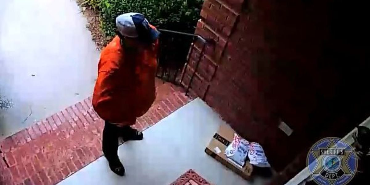 West Columbia package thief caught on camera. A tip could get you a reward.
