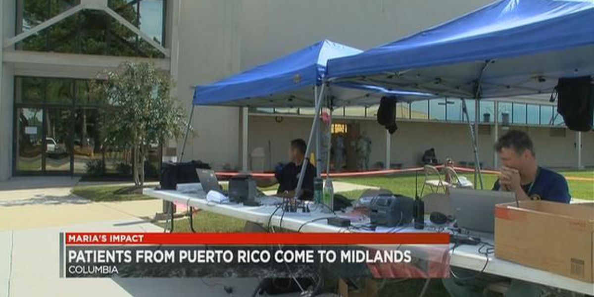 Evacuated hospital patients from Puerto Rico, Caribbean Islands arrive in the Midlands