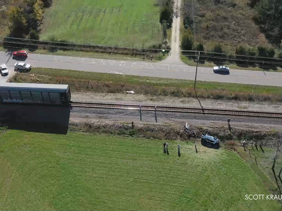 Residents say more safety precautions needed after Chapin train crash injures three
