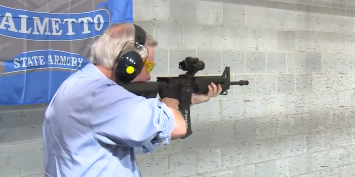 Graham visits SC shooting range in protest of proposed Assault Weapons Ban