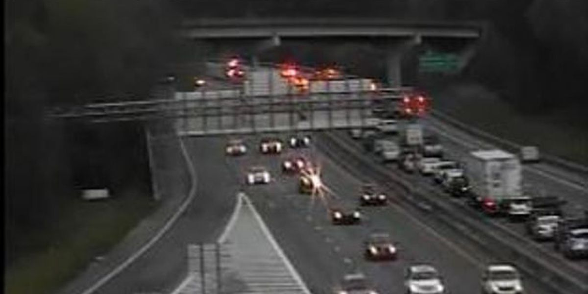 Traffic moving slowly on I-126 following vehicle fire