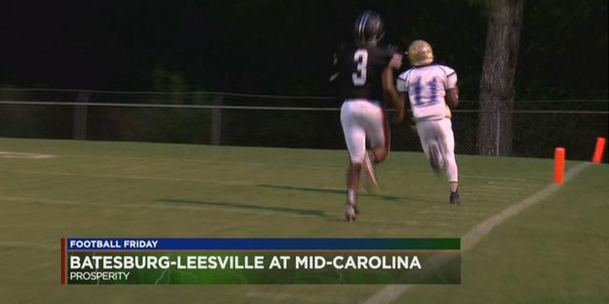 Play 1: Batesburg-Leesville's Shauntrel Hendrix takes a Pick 6 back for the score