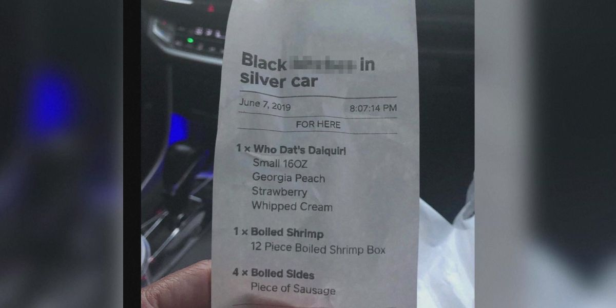 Mississippi restaurant employee fired over racist receipt name